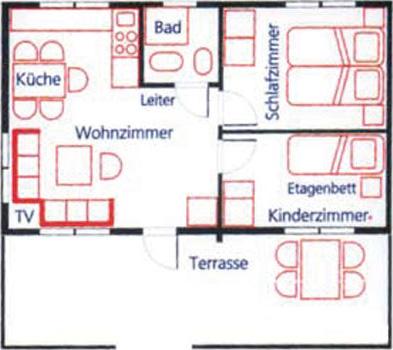 Grundriss Ferienhaus Timmerstuga